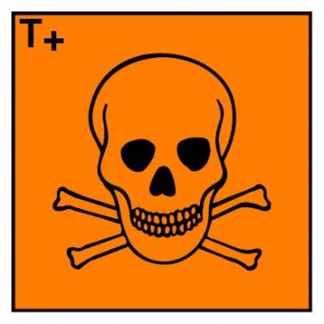 Gefahrstoffaufkleber sehr giftig Hazard_T