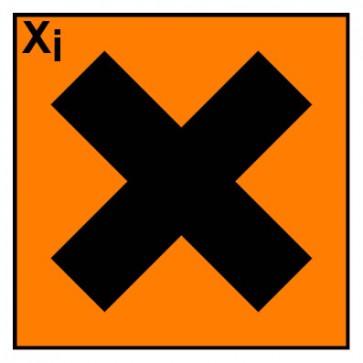 Gefahrstoffaufkleber reizend Hazard_X