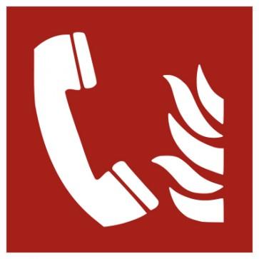 Aufkleber Brandschutz Brandmeldetelefon ISO7010