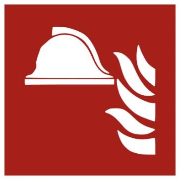 Aufkleber Brandschutzzeichen Mittel und Geräte zur Brandbekämpfung