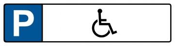 Kennzeichenschild mit Behinderten Symbol · MAGNETSCHILD (Magnetfolie)