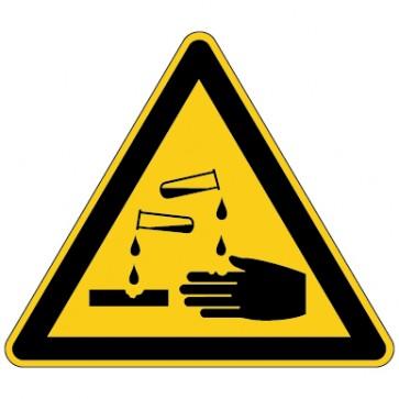 Aufkleber Warnung vor ätzenden Stoffen