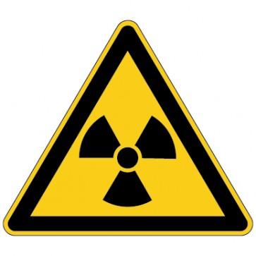 Aufkleber Warnung vor radioaktiven Stoffen