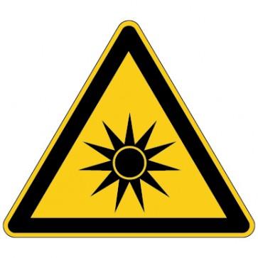 Aufkleber Warnung vor optischer Strahlung