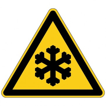 Aufkleber Warnung vor niedriger Temperatur - Frost