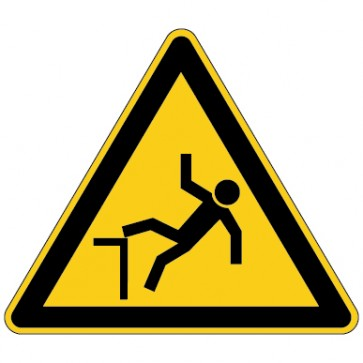 Aufkleber Warnung vor Absturzgefahr