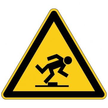 Aufkleber Warnung vor Hindernissen am Boden