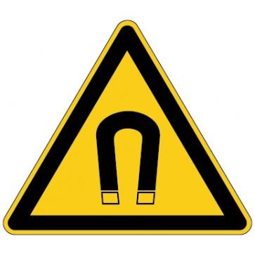 Aufkleber Warnung vor magnetischem Feld