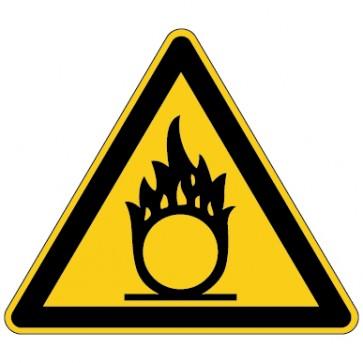 Aufkleber Warnung vor brandfördernden Stoffen