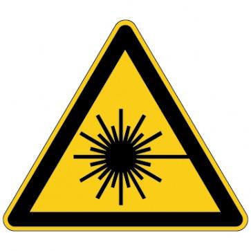 Warnschild Warnung vor Laserstrahlen