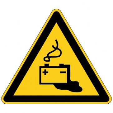 Aufkleber Warnung vor Gefahr durch das Aufladen von Batterien