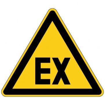 Aufkleber Warnung vor explosionsfähiger Atmosphäre