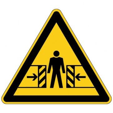 Aufkleber Warnung vor Quetschgefahr