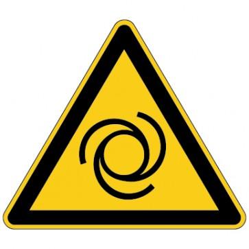 Aufkleber Warnung vor automatischem Anlauf