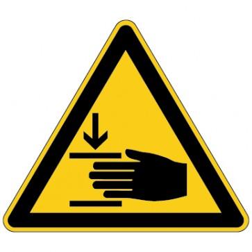 Aufkleber Warnung vor Handverletzungen