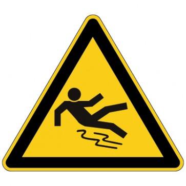 Aufkleber Warnung vor Rutschgefahr