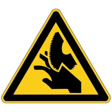 Warnschild Warnung vor Handverletzungen - Schnittverletzungen
