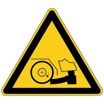 Aufkleber Warnung vor Fußverletzungen