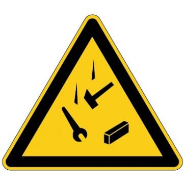 Aufkleber Warnung vor herabfallenden Gegenständen