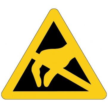Warnschild Warnung vor elektrostatisch gefährdete Bauelemente ESD