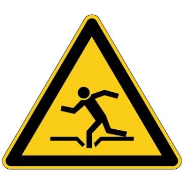 Aufkleber Warnung vor Einsturzgefahr