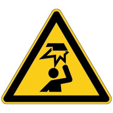 Aufkleber Warnung vor Hindernissen im Kopfbereich