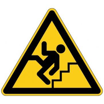 Aufkleber Warnung Vorsicht Treppe