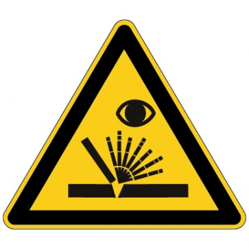 Aufkleber Warnung vor Schweißfunken