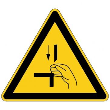 Warnschild Warnung vor Quetschgefahr