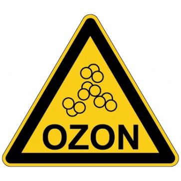Aufkleber Warnung vor Ozon
