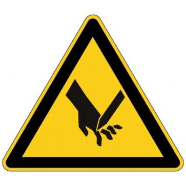 Aufkleber Warnung vor Schnittverletzungen