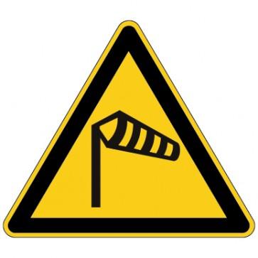 Aufkleber Warnung vor Wind - Sturm - Seitenwinde