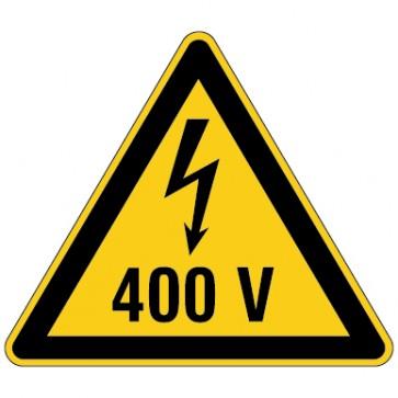 Aufkleber Warnung vor elektrischer Spannung 400V