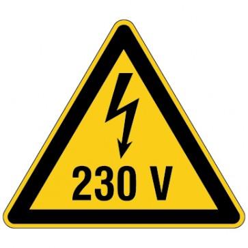 Aufkleber Warnung vor elektrischer Spannung 230V