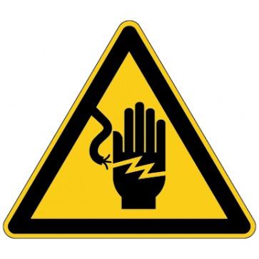 Aufkleber Warnung vor Stromschlaggefahr