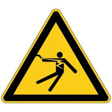 Aufkleber Warnung vor überschlagender Spannung Stromschlaggefahr