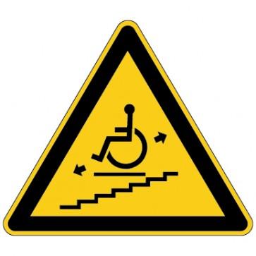 Warnschild Warnung vor Treppenlift