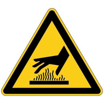 Aufkleber Warnung vor heißer Oberfläche