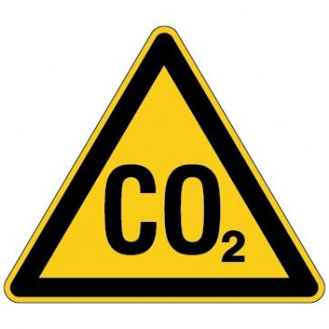 Aufkleber Warnung vor CO2 - Erstickungsgefahr