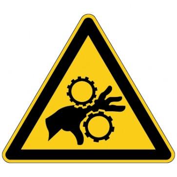 Aufkleber Warnung vor Einzugsgefahr