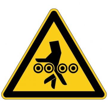 Warnschild Warnung vor Einzugsgefahr