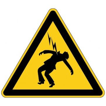 Warnschild Warnung vor überschlagender Spannung
