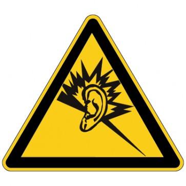 Warnschild Warnung vor Gehörschäden