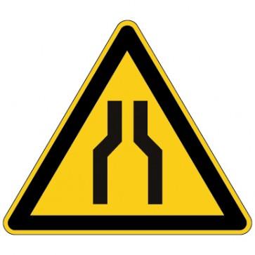 Aufkleber Warnung vor Engstellen
