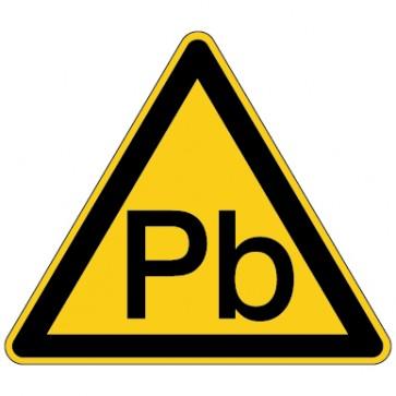 Aufkleber Warnung vor Blei (Giftstoff)