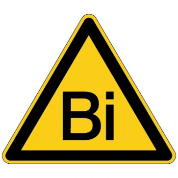 Aufkleber Warnung vor Bismuth