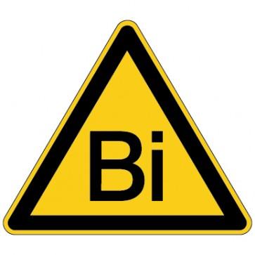 Warnschild Warnung vor Bismuth