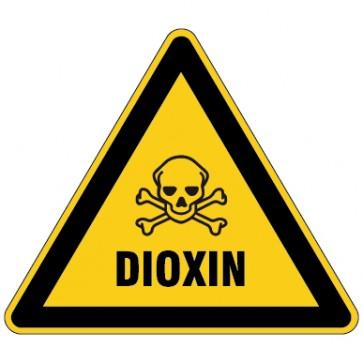 Aufkleber Warnung vor Dioxin - Schwermetallen