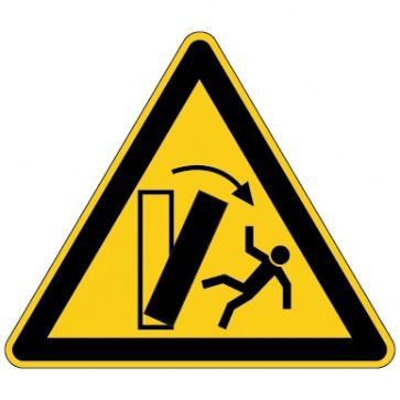 Aufkleber Warnung vor kippenden Gegenständen