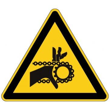 Aufkleber Warnung vor Handverletzung